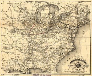 A correct map of the Pennsylvania Central Rail Road with