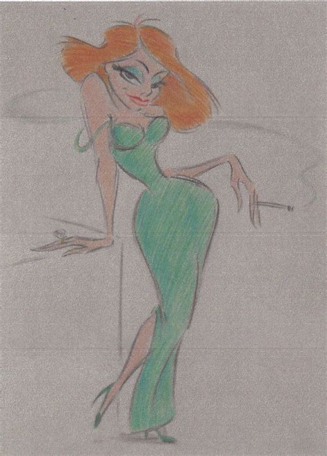 Early Disney character designs – Jessica Rabbit – Pulling