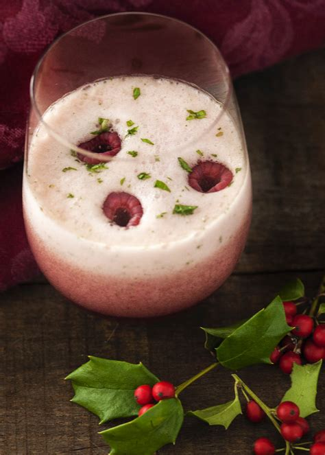 Raspberry Mint Prosecco Cocktail - Just a Little Bit of Bacon