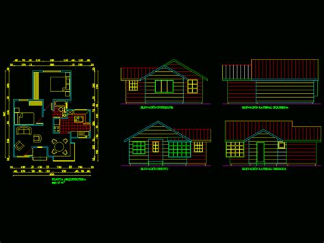 Small house in AutoCAD | CAD download (101
