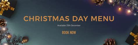 Christmas Day Menu at The Plume of Feathers   Ember Inns