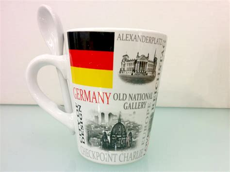 Americano Cup with Spoon Germany Berlin Souvenirs online