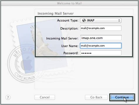 Setting up Mail OS X (Lion) - Knowledgebase - Thobson