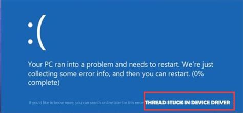 Fixed: Thread Stuck in Device Driver Windows 10