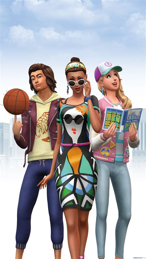 The Sims 4 City Living: Desktop & Smartphone Wallpapers